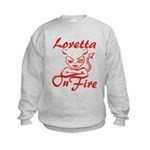 Loretta On Fire Kids Sweatshirt