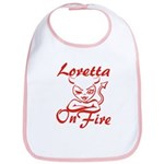 Loretta On Fire Bib