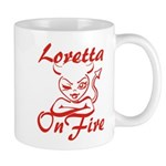 Loretta On Fire Mug