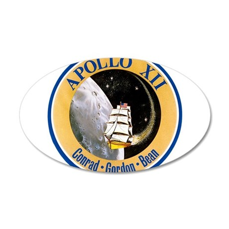 Apollo 12 Mission Patch 35x21 Oval Wall Decal