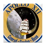 Apollo 12 Mission Patch Tile Coaster