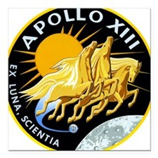 "Apollo 13 Mission Patch Square Car Magnet 3"" x 3"""