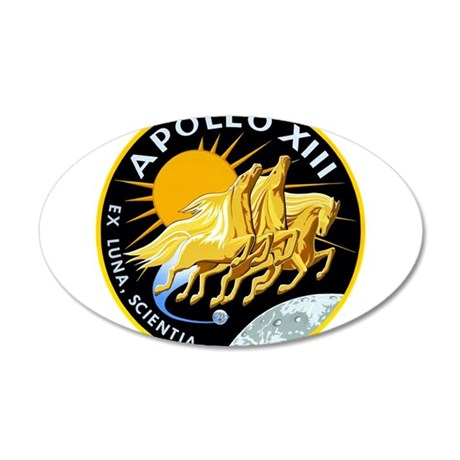 Apollo 13 Mission Patch 20x12 Oval Wall Decal