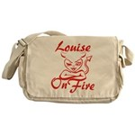 Louise On Fire Messenger Bag