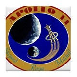 Apollo 14 Mission Patch Tile Coaster