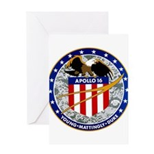 Apollo 16 Mission Patch Greeting Card