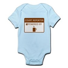 Court Reporter Powered by Coffee Infant Bodysuit