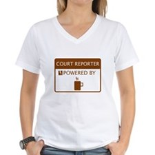 Court Reporter Powered by Coffee Shirt
