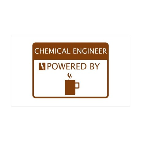 Chemical Engineer Powered by Coffee 35x21 Wall Dec