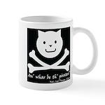 Cat and Bones Mug
