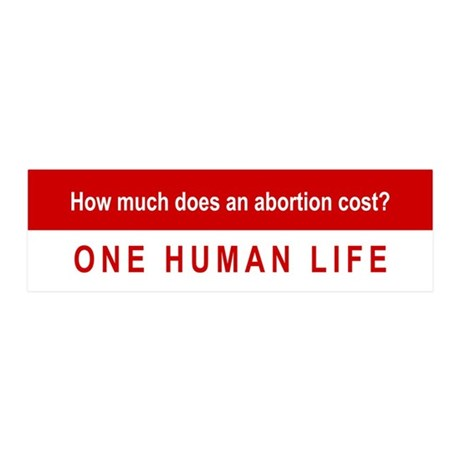 How Much Does An Abortion Cost? 36x11 Wall Decal