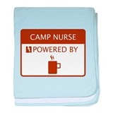 Camp Nurse Powered by Coffee baby blanket