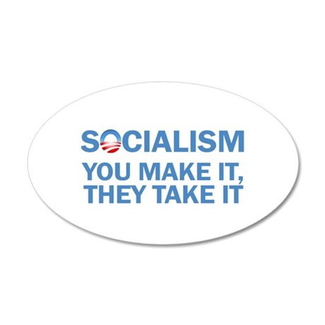 Socialism 35x21 Oval Wall Decal