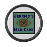 Personalized Man Cave Large Wall Clock