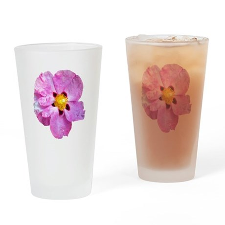 Spot Flower Drinking Glass