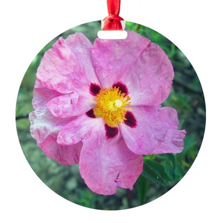 Spot Flower Round Ornament