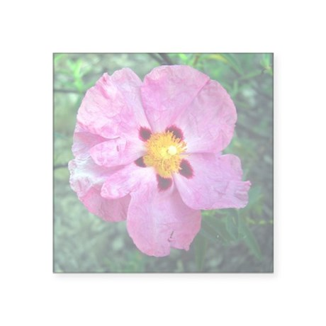 "Spot Flower Square Sticker 3"" x 3"""