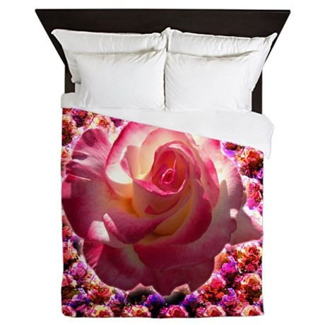 Blushing Rose Queen Duvet