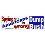 Spying on Americans Bumper Sticker