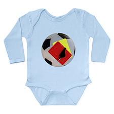 Football- cards-whistle Long Sleeve Infant Bodysui