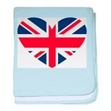 Union Jack Heart baby blanket
