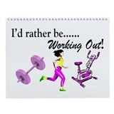 WORKOUT & GYM Wall Calendar