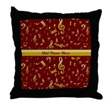 Personalized Red and gold musical notes Designer T