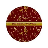Personalized Red and gold musical notes Designer 3