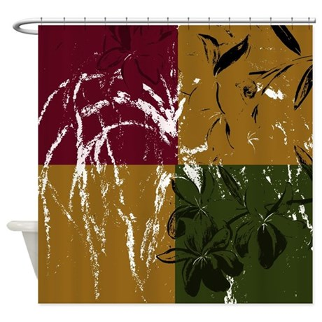 Neutral earth tone shower curtain by markmoore for Bathroom decor earth tones