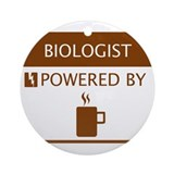 Biologist Powered by Coffee Ornament (Round)