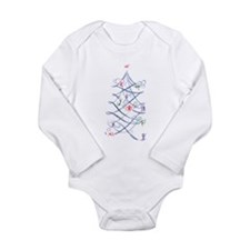 Cute Ski hill Long Sleeve Infant Bodysuit