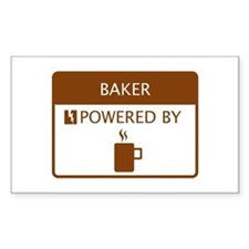 Baker Powered by Coffee Stickers