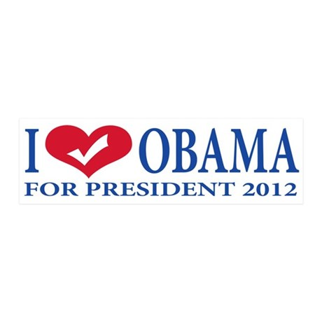 i love obama.png 36x11 Wall Decal