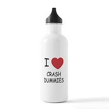 I heart crash dummies Water Bottle