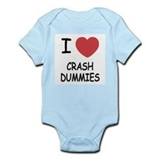 I heart crash dummies Infant Bodysuit