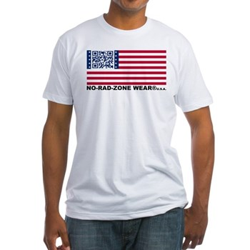 UNITED STATES of NRZ FLAG Fitted T-Shirt