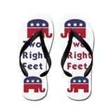 Republican Two Right Feet Flip Flops