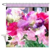 Old Fashioned Sweet Peas in a Jar Shower Curtain