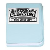 Jeffersons Cleaning baby blanket