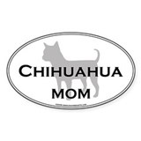 Chihuahua MOM Oval Decal