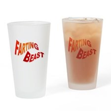 Farting Beast Drinking Glass