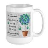 Retired Teacher butterfly blanket blue.PNG Mug