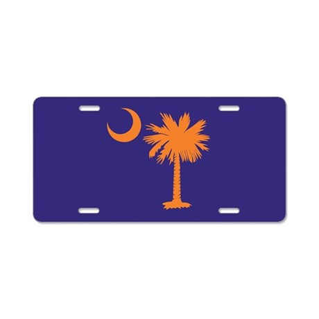 Orange and Purple Palmetto Moon License Plate