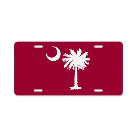 Garnet Palmetto Moon License Plate
