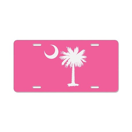 Pink Palmetto Moon License Plate