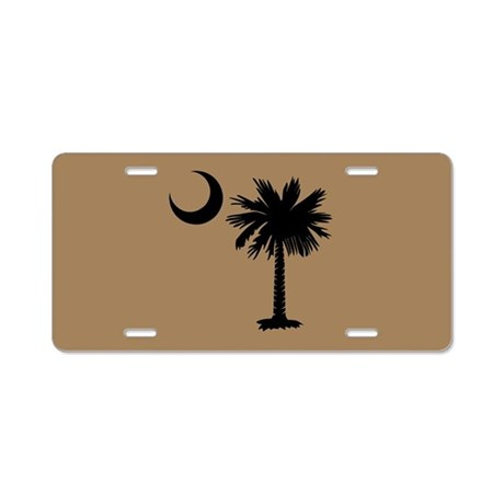 Gold and Black Palmetto Moon License Plate
