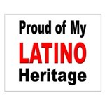 Proud Latino Heritage Small Poster