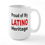 Proud Latino Heritage Large Mug
