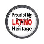 Proud Latino Heritage Wall Clock