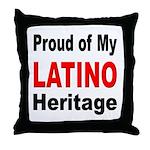 Proud Latino Heritage Throw Pillow
